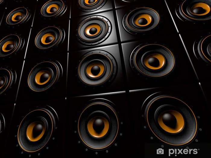 Vinilo Pixerstick Boxenwand - Hip Hop