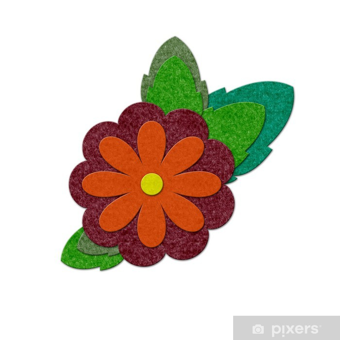 Pixerstick Aufkleber Felt flower - Blumen