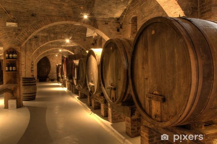Vinyl Fotobehang Wijnkelder in abdij van Monte Oliveto Maggiore - Overige