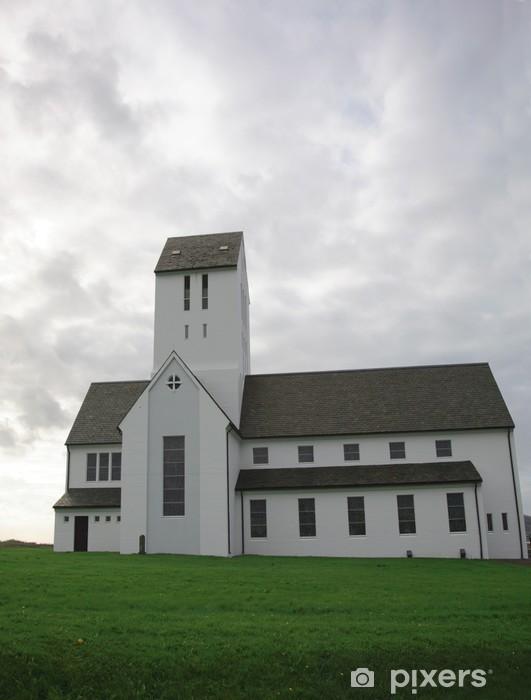 Vinyl-Fototapete Kirche in Skalholt - Europa