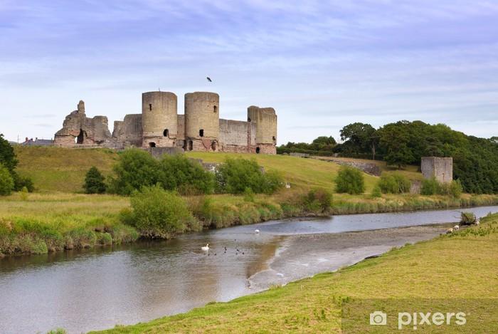 Vinyl Fotobehang Rhuddlan ruïnes van het kasteel, Noord-Wales - Europa
