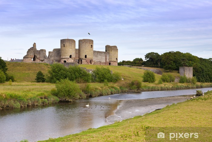 Rhuddlan linna rauniot, pohjois-wales Vinyyli valokuvatapetti - Eurooppa