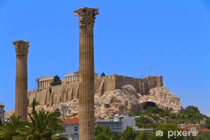 Papier peint vinyle Vue sur l'Acropole du temple de Zeus Olympien à Athènes Grèce - Europe