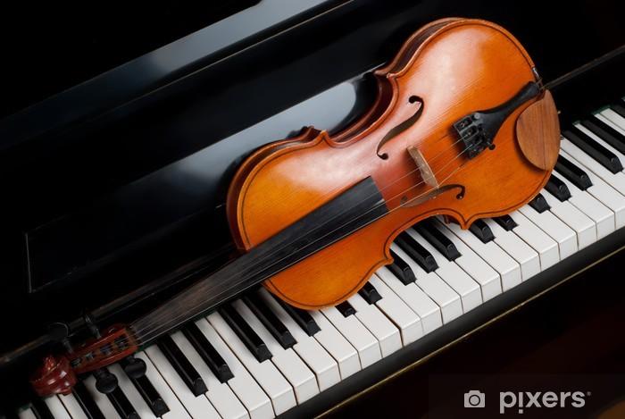 Carta da Parati in Vinile Violin and piano - Musica
