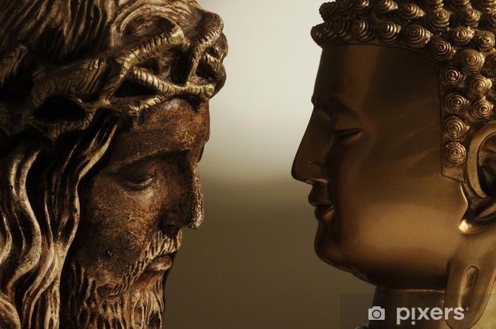 Jesús cristo y buda - 3 Vinyyli valokuvatapetti -