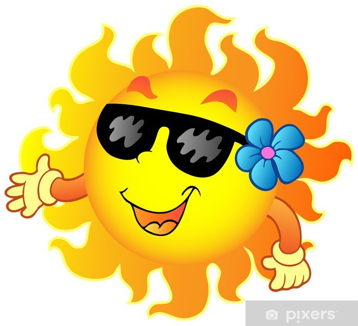 Naklejka Pixerstick Happy summer Sun 1 - Szczęście