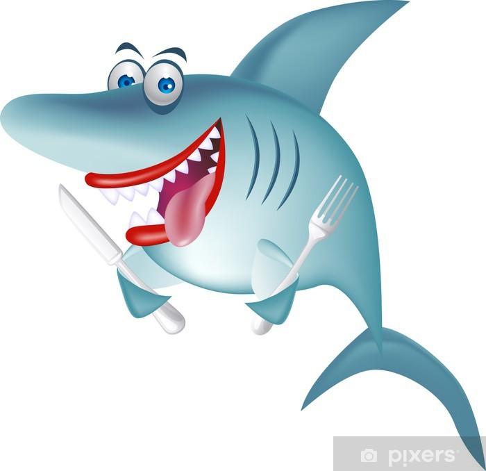 Plakat Hungry Shark - Naklejki na ścianę