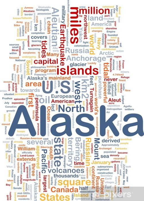 Vinyl-Fototapete Alaska Staat Hintergrundkonzept - Himmel