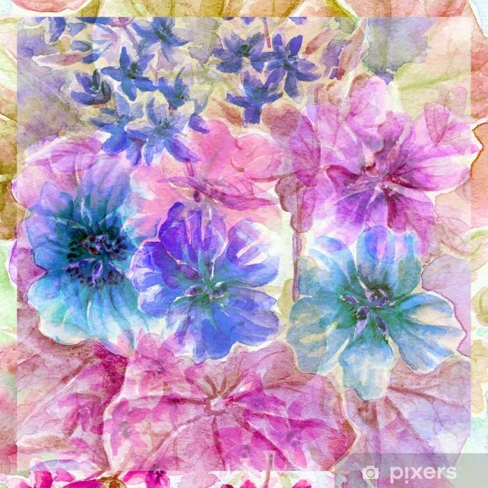 Papier peint vinyle Fleurs capucine - Fleurs