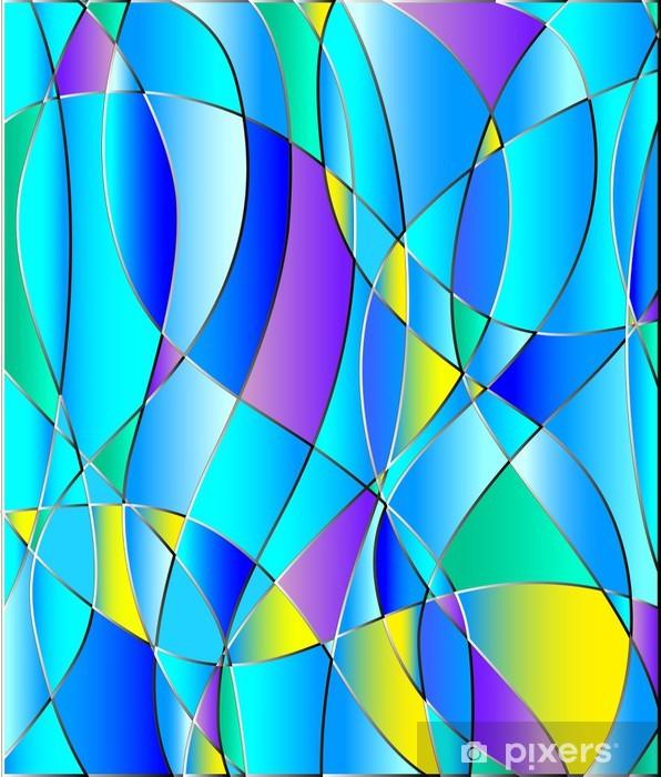 Papier peint vinyle Texture en verre teinté, ton bleu, fond vecteur -