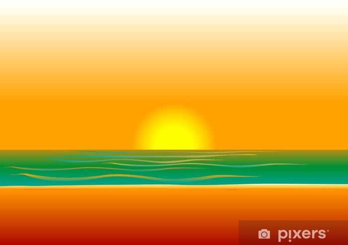 Papier peint vinyle Beach Background 5 - Eau