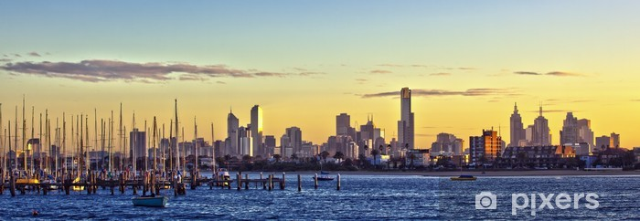 Nálepka Pixerstick Melbourne Panorama - Oceánie