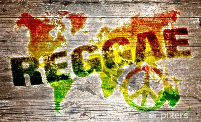 World reggae music concept for peace Vinyl Wall Mural -