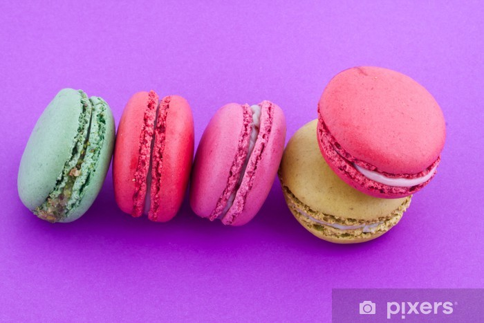 Sticker Pixerstick Macarons - Desserts et friandises