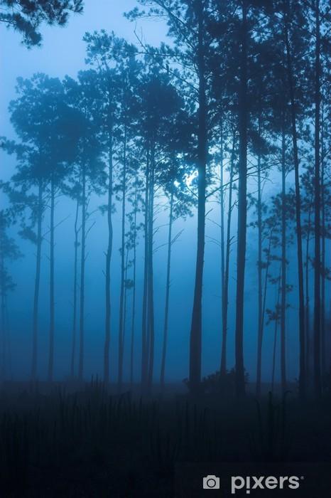 Vinilo Pixerstick Bosque de niebla oscura llena de mal humor - Celebraciones internacionales