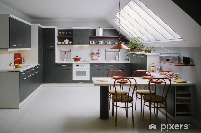 Fototapete Küche entiere dans les combles