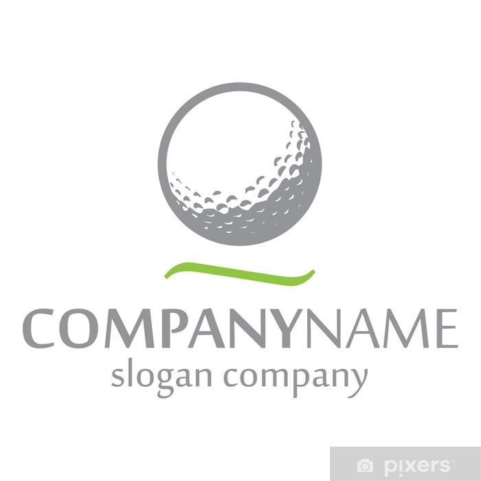 Vinyl-Fototapete Golf Logo Identität - Spiele und Wettbewerbe