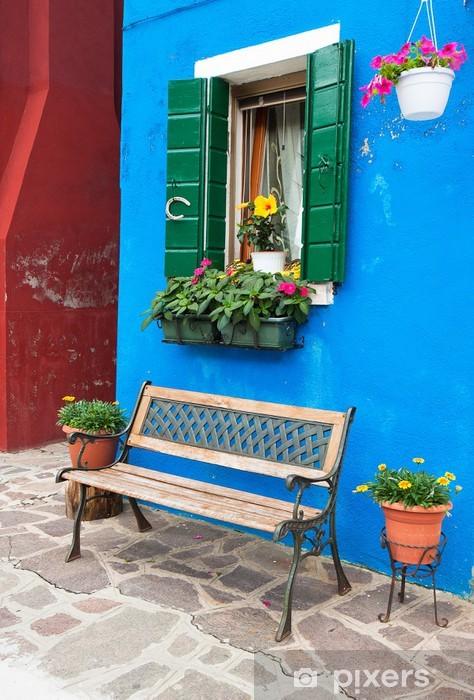 Fotomural Estándar Coloridas casas de Burano, Venecia, Italia - Temas