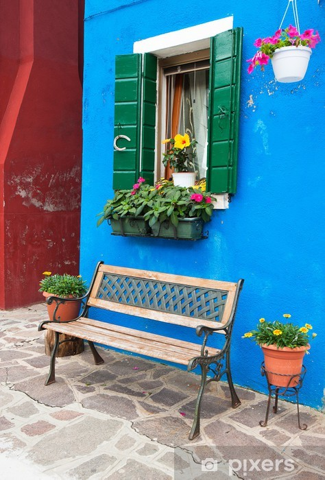 Colorful houses of Burano, Venice, Italy Vinyl Wall Mural - Themes
