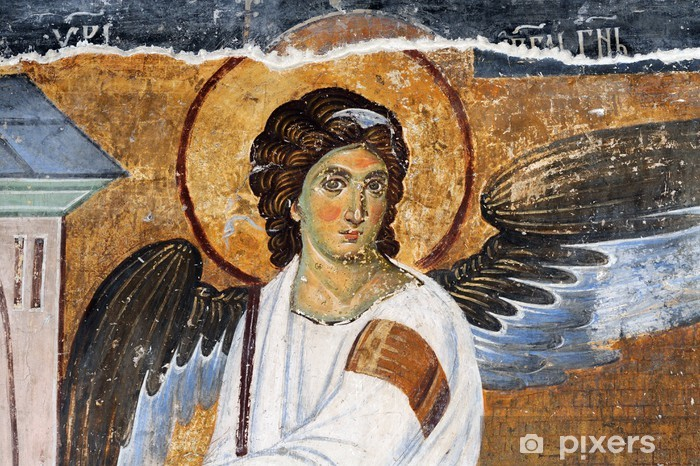 Sticker Pixerstick Ange blanc ou Myrrhbearers sur la tombe de Christ - Europe