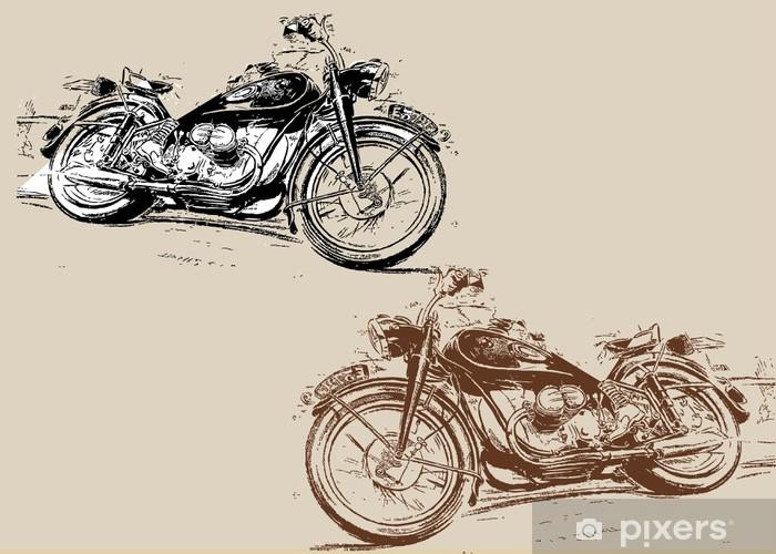 Papier peint vinyle Hot Harley Davidson - Sur la route