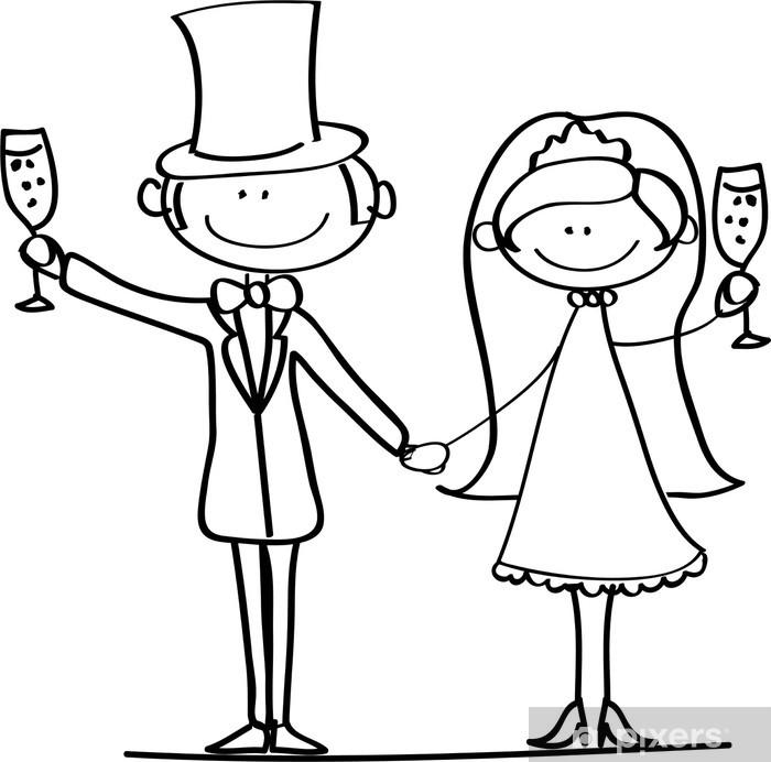 Жених и невеста рисунок карандашом прикольные, сестренка
