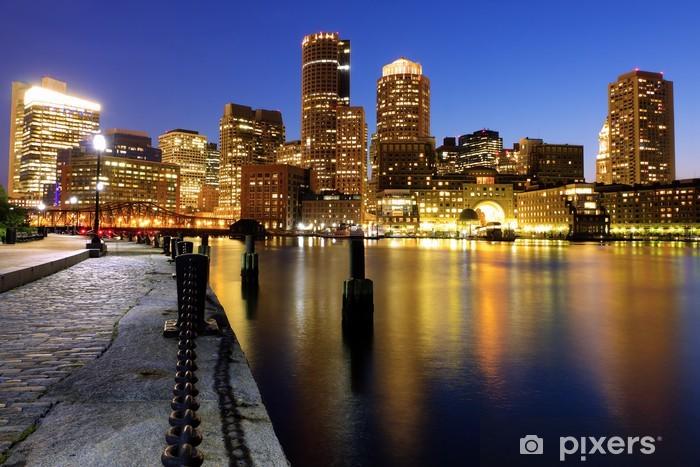Boston Harbor and Financial District in Massachusetts Pixerstick Sticker - America