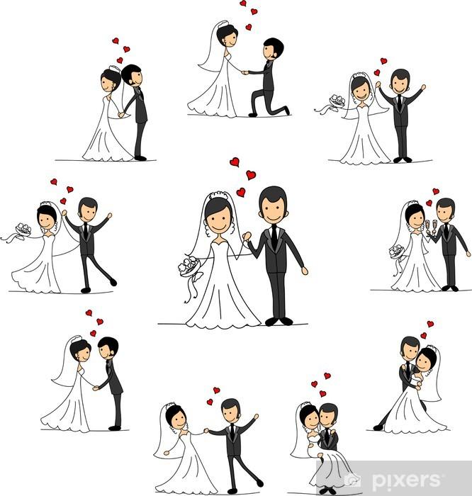 Papier Peint Dessin Personnages De Mariage La Mari 233 E Et