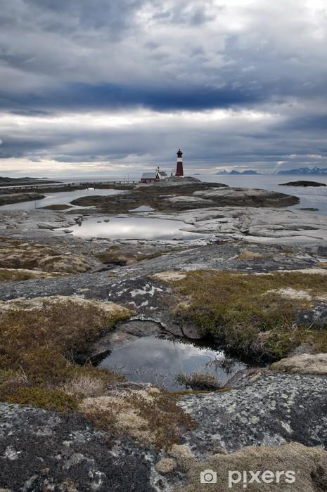 Naklejka Pixerstick Norwegen - Latarnia morska