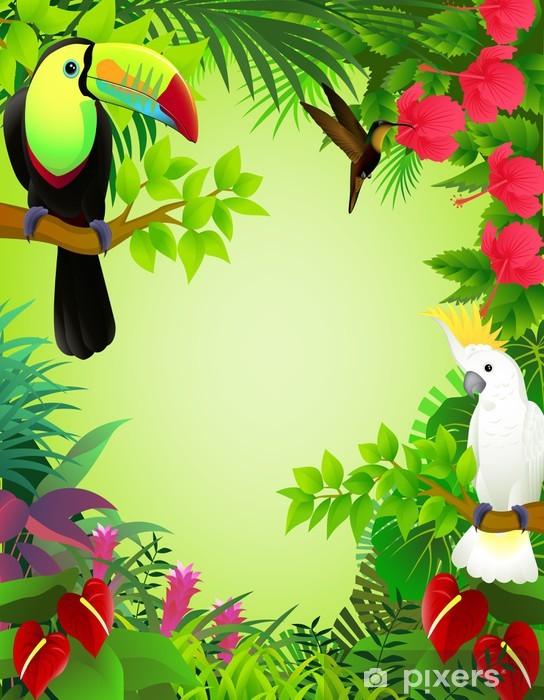 Naklejka Pixerstick Tropikalnych ptaków -