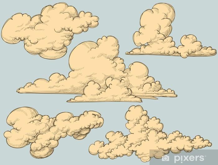 Zelfklevend Fotobehang Vintage wolken - Thema's