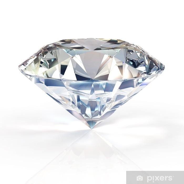 Sticker Pixerstick Bijoux en diamant sur fond blanc - Mode