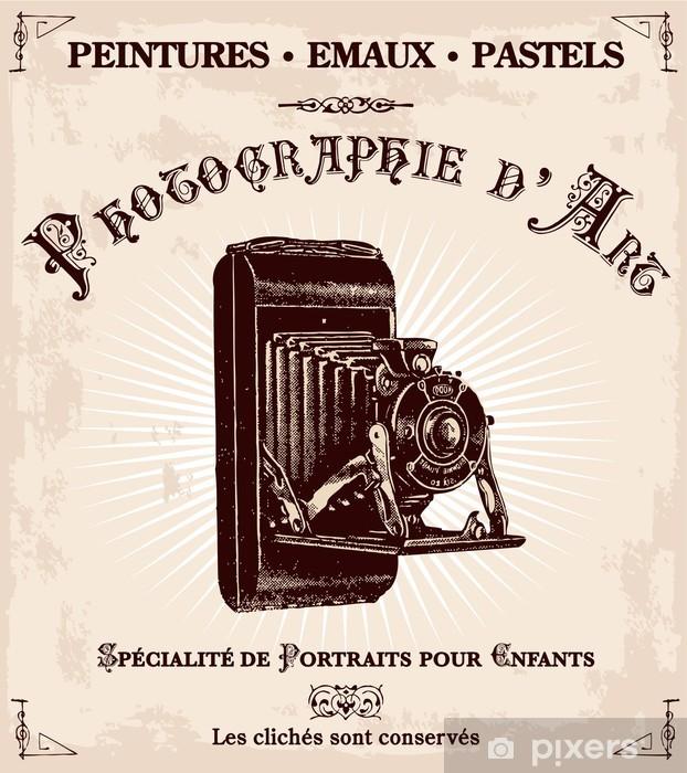 Papier peint vinyle Publicité ancienne d'ONU photographe - Thèmes