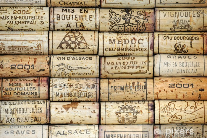 Background of wine corks Vinyl Wall Mural - iStaging