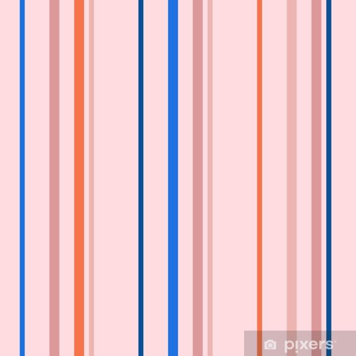 Pixerstick-klistremerke Vertikale striper sømløst mønster. enkel vektorstruktur med tynne og tykke linjer. abstrakt geometrisk stripete bakgrunn i trendy lyse farger, oransje, blå, rosa, fersken. stilig minimal design - Grafiske Ressurser