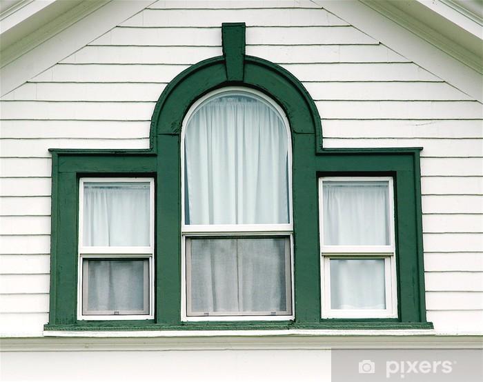 Fototapeta winylowa Zakrzywione zielone okno - Zabytki