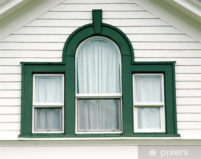curved green window Vinyl Wall Mural - Monuments