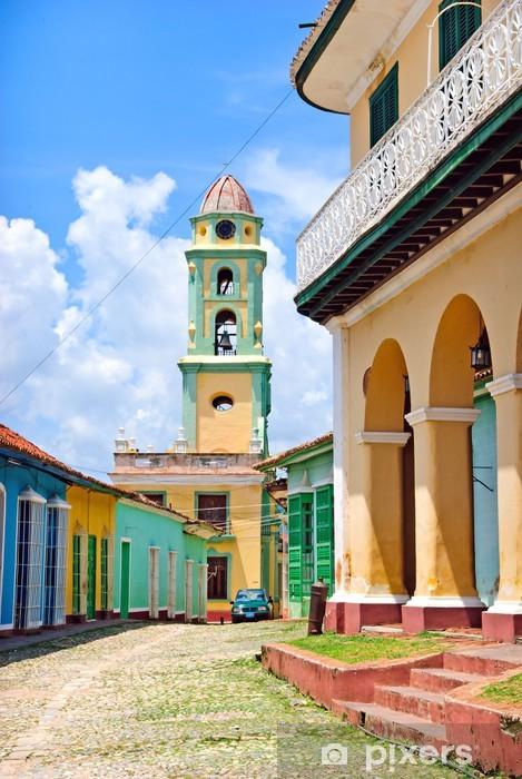 Fototapeta winylowa Kolorowe ulica w Trinidad, Kuba - Tematy