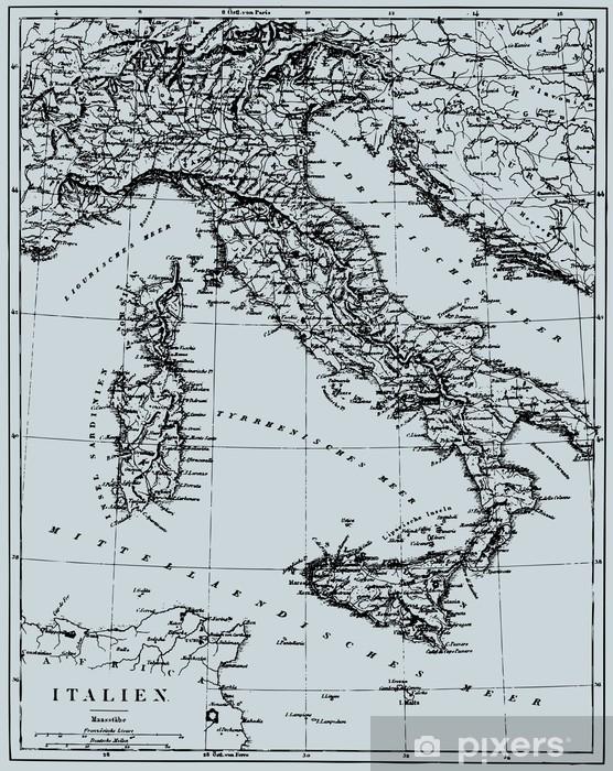 Vektor Historisk Kort Over Italien Fototapet Pixers Vi Lever