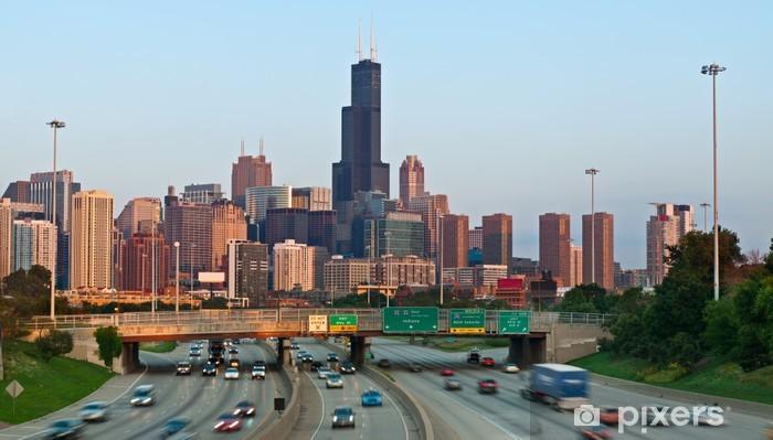 Papier peint vinyle Le trafic de Chicago. - Amérique