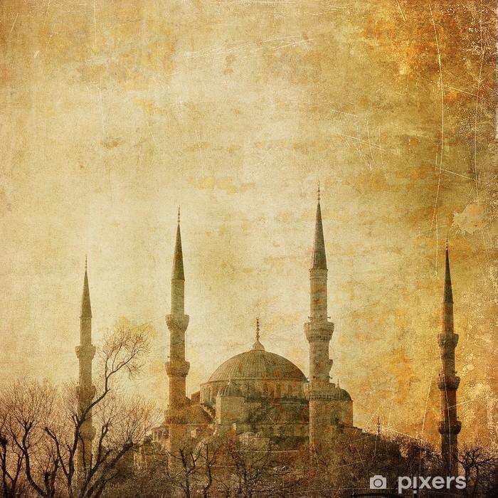 Nálepka Pixerstick Vintage image of Blue Mosque, Istanbul - Střední Východ