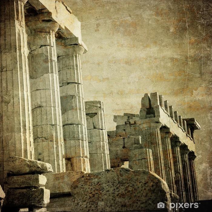 Papier peint vinyle Image vintage de colonnes grecques, Acropole, Athènes, Grèce - Styles
