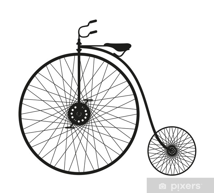 Silhouette of an old bicycle Poster - Individual Sports