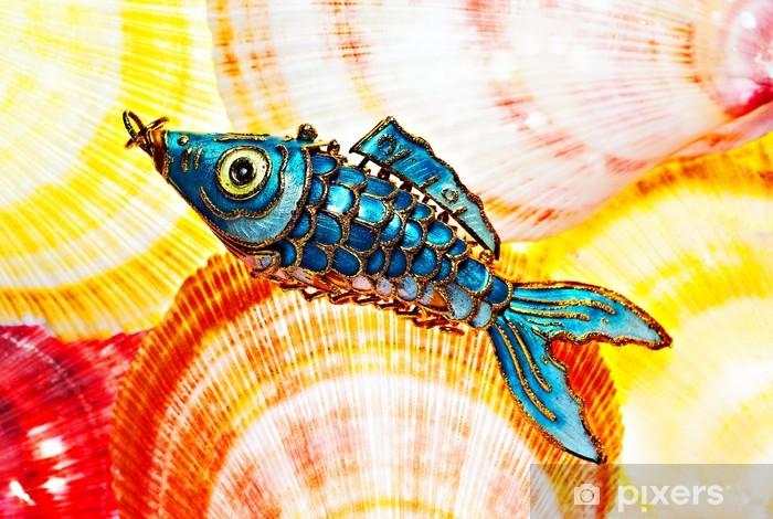 Vinyl-Fototapete Fische und Muscheln - Spiele