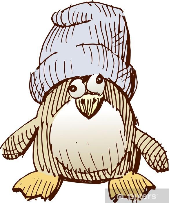 Pixerstick Aufkleber Cub einen Pinguin - Vögel