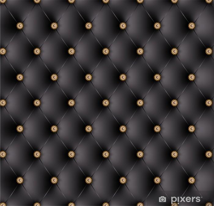 Sticker Pixerstick Capitonné noir boutons fantaisie-1 -