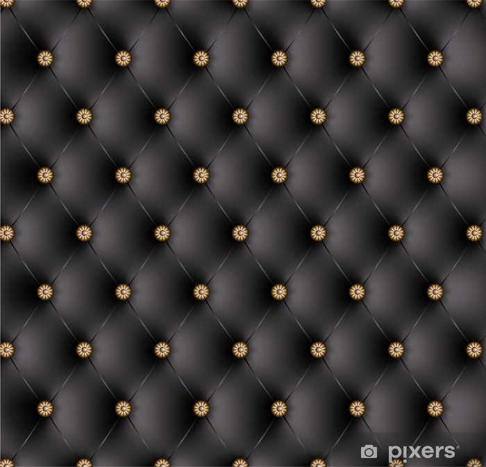 Pixerstick Sticker Gewatteerde zwarte knopen fancy-1 -