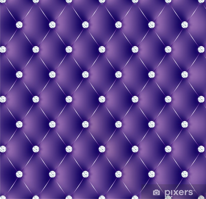 Pixerstick Sticker Gewatteerde paarse knoppen diams-1 - Stijlen