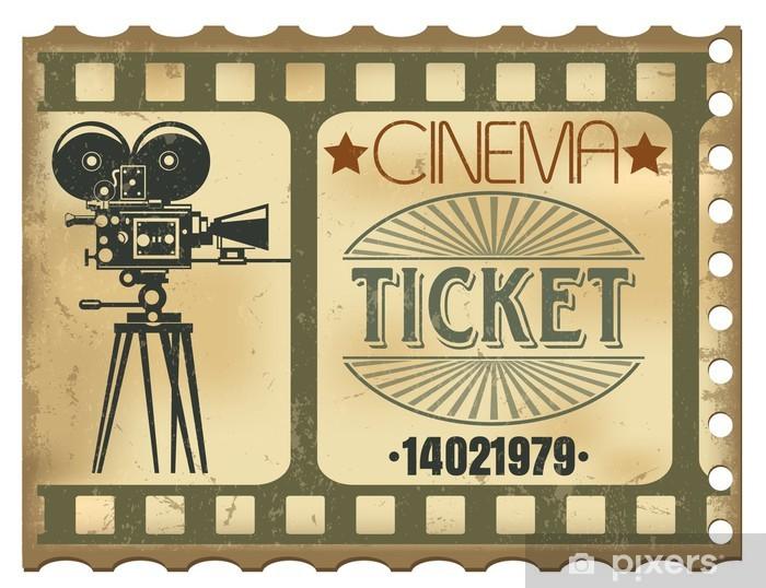 Naklejka Pixerstick Biletów w kinie - Tematy