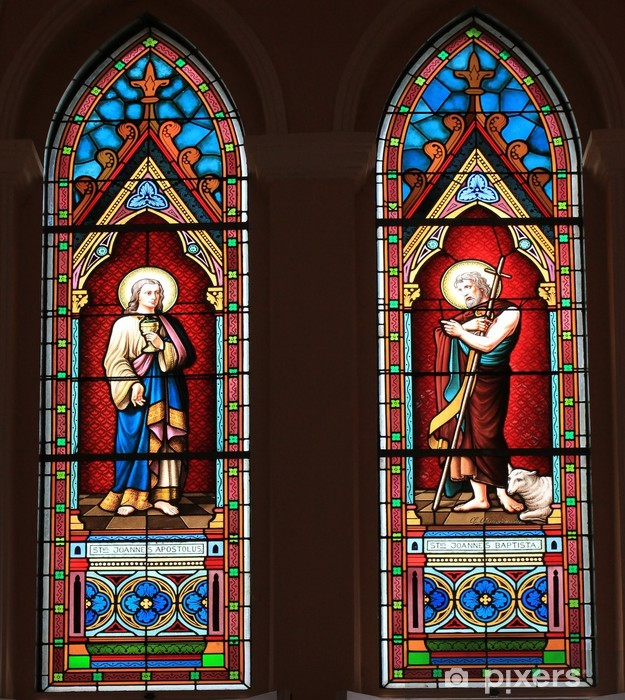 Catholic Stained Glass Window From A Church Sticker